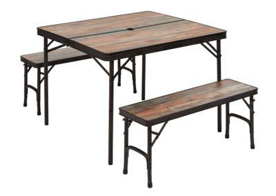 TABLE + 2 BANCS INTEGRES